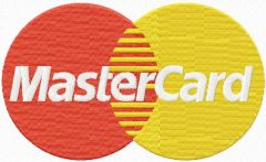 Master Card logo embroidery design