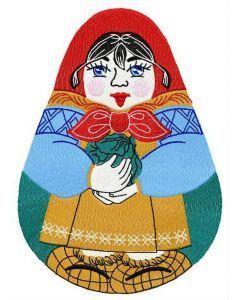 Matrioshka embroidery design