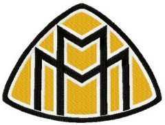 Maybach badge embroidery design
