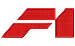 McLaren F1 logo 3 embroidery design