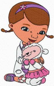 Doc McStuffins and Lambie embroidery design