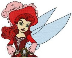 Pirate fairy embroidery design