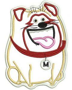 Mel applique embroidery design