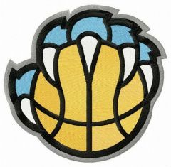 Memphis Grizzlies alternative logo 2018/19 embroidery design