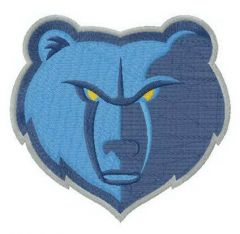 Memphis Grizzlies alternative logo embroidery design