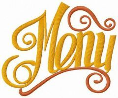 Menu 4 embroidery design