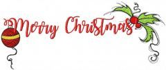 Merry Christmas 9 embroidery design