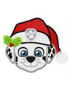 Merry Christmas, Marshall embroidery design