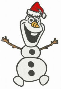 Merry Christmas Olaf embroidery design