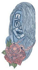 Metamorfoza girl embroidery design