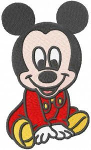 Mickbaby embroidery design