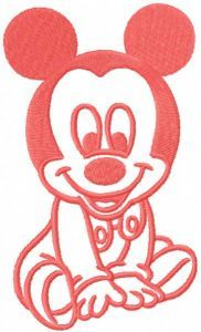 Mickbaby pink embroidery design