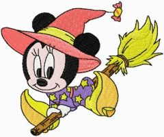 Minnie Mouse Halloween embroidery design