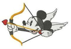Mickey Amur embroidery design
