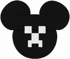 Mickey Creeper embroidery design
