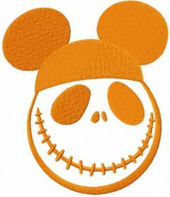 Mickey hat skellington embroidery design