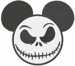 Mickey Jack Skellington embroidery design