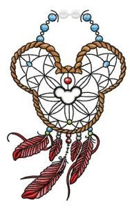 Mickey Mouse dreamcatcher embroidery design