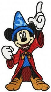 Mickey Mouse Fantasia 3 embroidery design