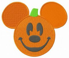 Mickey Mouse funny pumpkin embroidery design
