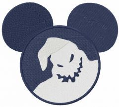 Mickey Mouse ghost embroidery design