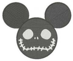 Mickey Mouse Halloween horror embroidery design