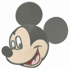 Mickey Mouse happy muzzle embroidery design