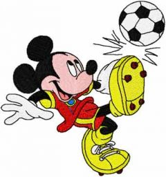 Mickey like soccer embroidery design
