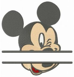 Mickey Mouse monogram embroidery design
