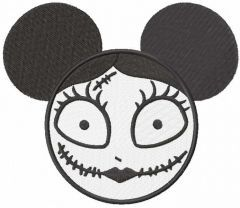 Mickey Sally embroidery design