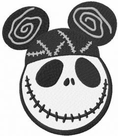 Mickey Skellington embroidery design