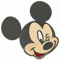 Mickey winks 2 embroidery design