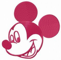 Mickey's happiness embroidery design