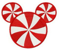 Mickey candy embroidery design