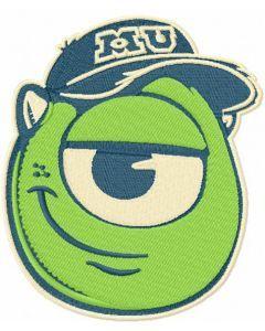 Mike Wazowski badge embroidery design