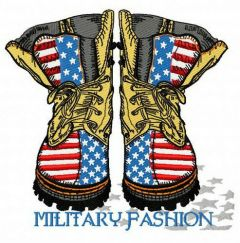 Military fashion embroidery design