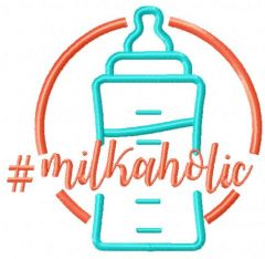 Milkaholic 2 embroidery design