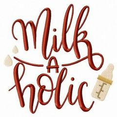 Milkaholic embroidery design