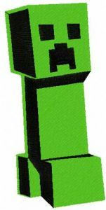 Minecraft Creeper 9 embroidery design