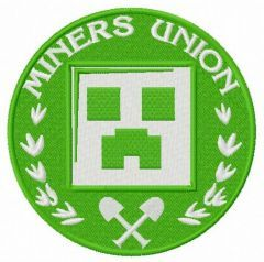 Miner's Union logo 2 embroidery design