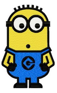 Minion confused embroidery design 2