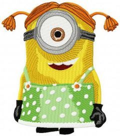 Minion Stuart embroidery design