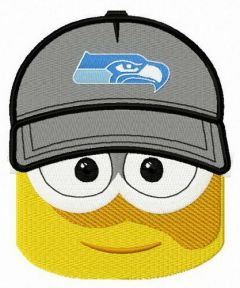 Minion Seattle Seahawks fan embroidery design