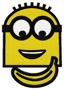 Minion's banana 2 embroidery design