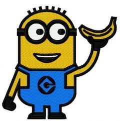 Minion's banana embroidery design
