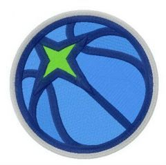 Minnesota Timberwolves alternative logo embroidery design