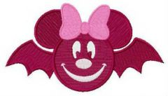Minnie bat embroidery design