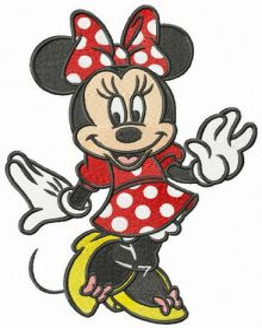 Minnie coquette embroidery design