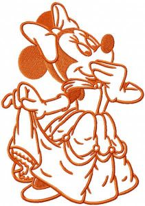 Minnie Mouse Belle princess embroidery design