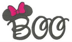 Minnie Mouse Boo embroidery design